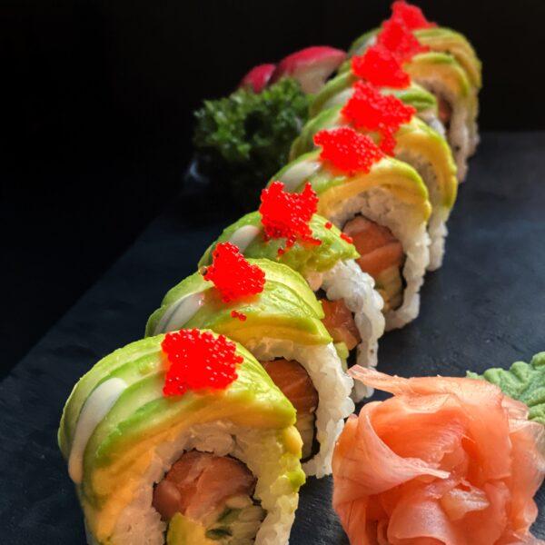 green catepillar roll