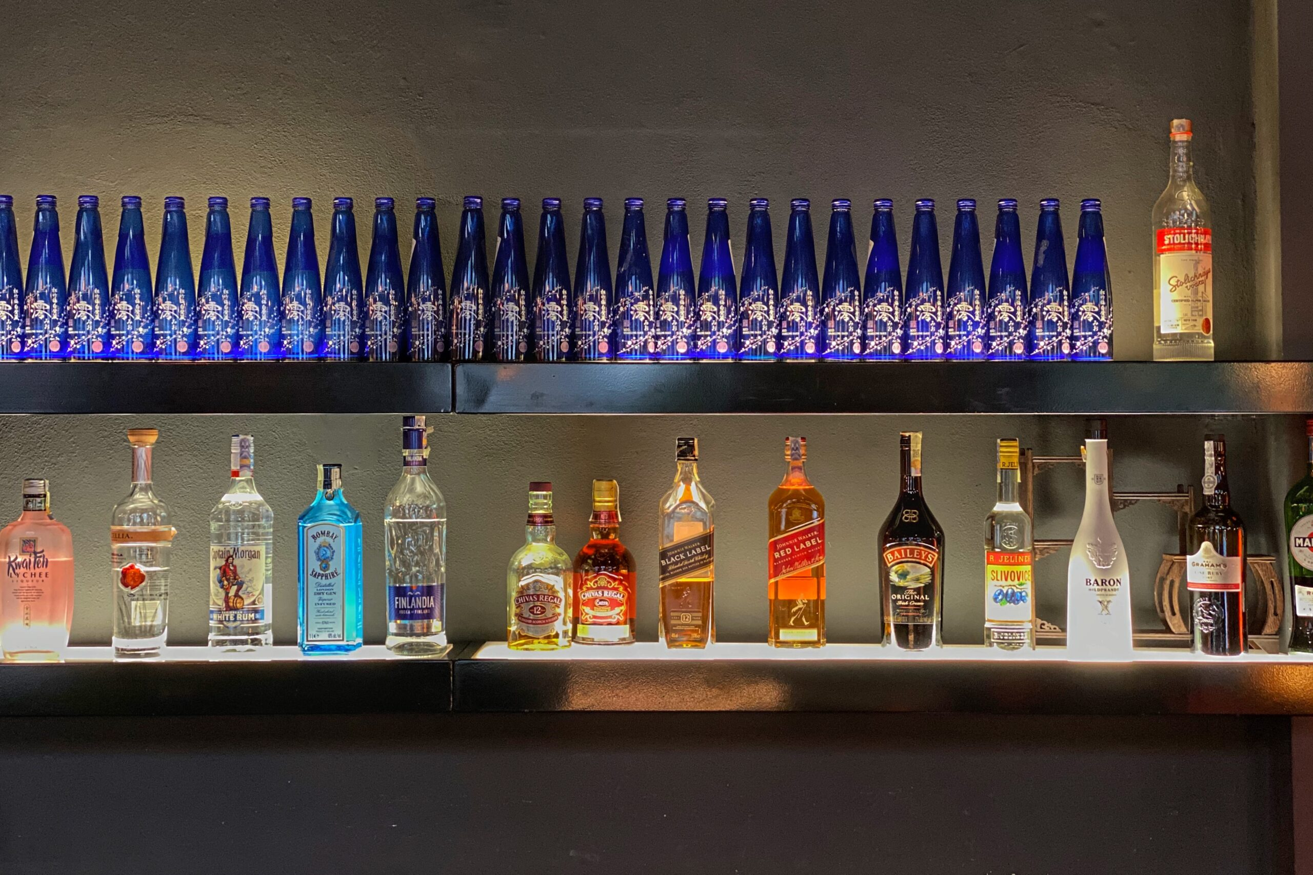 alcohol wall